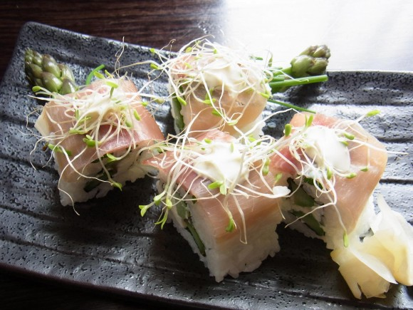 prosciutto Sushi rolls - TANTO Japanese Dining Auckland