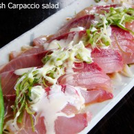 "Kingfish ""Carpaccio"" Salad - TANTO Japanese Dining - Japanese Restaurant Auckland"