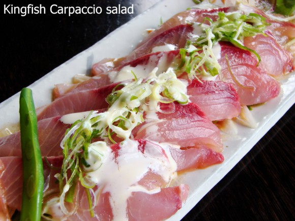 "Kingfish ""Carpaccio"" Salad - TANTO Japanese Dining - Japanese Restaurant Auckland"