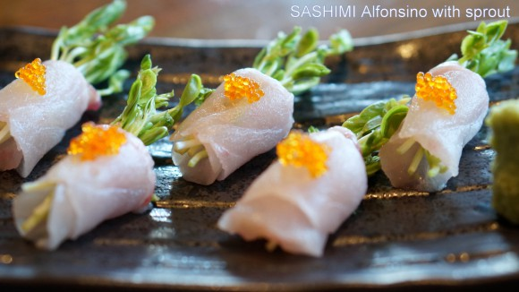 Sashimi Alfonsino with sprout  - TANTO Japanese Dining Auckland
