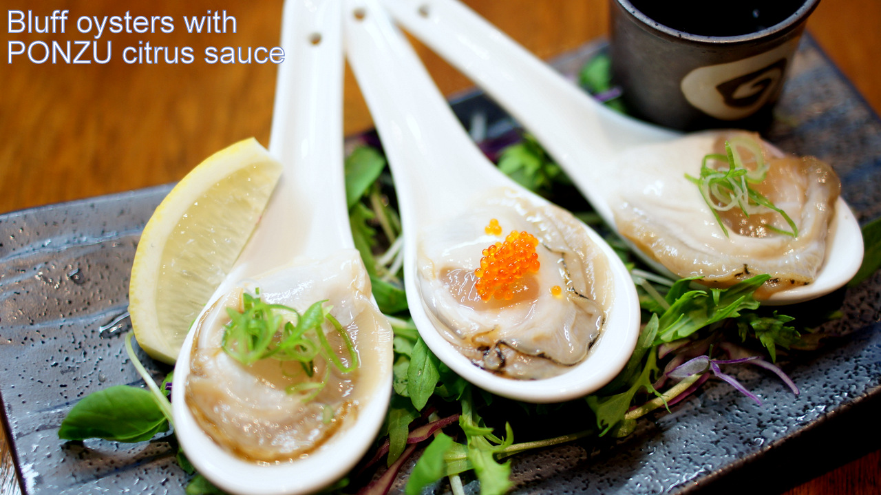 Bluff oysters - TANTO Japanese Dining Auckland Japanese Restaurant