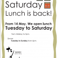 TANTO is proudly announcing to our royal customers that we are now re-opening for Saturday lunch again. Bento lunch course is a combination of one choice of Entree dish & […]
