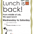 We are opening Lunch from Mid of July! Sorry for keeping you waiting but finally, we are re-opening lunchtime from Mid of July (in a couple of weeks). We are […]