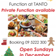 We are offering Private/Semi-private function for your Christmas party. Please give us a ring to discuss the details of your part and have a wonderful Christmas experience at TANTO. Open […]