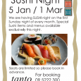 We are especially open on Sunday 1st of March 2020 We are having SUSHI night first Sunday night every month. Special Sushi items and menus available exclusively this night. Last […]
